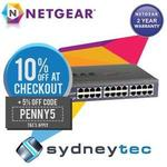 NetGear JGS524PE 24-Port (12 PoE) Gigabit Switch (Lifetime Warranty) for $255.64 Delivered @ Sydneytec eBay