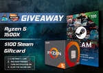 Win an AMD Ryzen 5 1500X Processor or $100 Steam Gift Card from Beat Gaming Corp