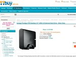 "Iomega Prestige 2TB Desktop 3.5"" USB 2.0 External Hard Drive - Silver Grey $119"