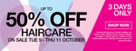 50% Off A'kin, Dove, Essano, Hask, Head & Shoulders, Herbal Essances, OGX, Pantene, Sukin, TRESemme Haircare + More @ Priceline