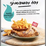 [WA] Nandos Grand Opening - Free 1/4 Chicken and Chips from 11am to 2pm @ Nandos (William St, Perth)