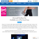 Microsoft Surface Go 4GB $537.30 (Was $597), 8GB $753.30 (Was $837) @ The Good Guys - 10% Storewide