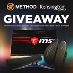 "Win an MSI Optix 27"" 144Hz Curved Gaming Monitor or 1 of 9 Kensington Back/Wrist Rests from Method"