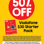 Vodafone $30 Pre-Paid Cap Starter Pack - $15 @ 7-Eleven
