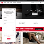 40% off Sitewide at New Balance + Free Shipping [Full Priced Items Only]