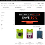 50% off All American Tourister and Delsey Luggage at David Jones [Combine with AmEx Cashback]