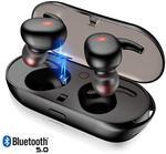 True TWS Wireless Bluetooth 5.0 Water Resist Earbuds Touch Control US $23.99 /AU $33.76 @ Gazechimp