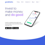 Get $10 Trading Credit after Subscribing to a Monthly Plan from $2.99 Per Month @ Goodments Investment App
