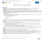 [eBay Plus] 10% off Plus Items for Plus Members ($75 Min Spend, $100 Max Disc) @ eBay