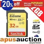 SanDisk Extreme 32GB SD Memory Card $15.78 Delivered @ apusauction eBay