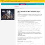Win a VIP UEFA Champions League Final Experience in Spain for 4 Worth $68,000 from Optus [Optus Customers]