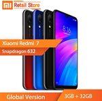 Black Global Version Xiaomi Redmi 7 Snapdragon 632, 3GB + 32GB 6.26'' Screen $128 USD (~ $181 AUD) Delivered @ AliExpress