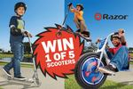 Win 1 of 5 Razor Kid Scooters Worth Up to $149 from Mum Central