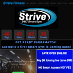 [NSW] Strive Fitness (24/7 Gym) $9.99/Week First 3 Months + No Joining Fee + No Smart Access Key Fee (Parramatta)