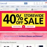 40% off Storewide @ Lincraft