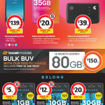 Free $2 SIM Card with Purchase of Boost Prepaid 1 Year Expiry 80GB Data $150 @ Coles