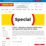 1000 Bonus flybuys Points With a $20+ Spend Using Click and Collect @ Liquorland