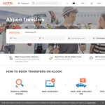 2 Airport Transfers for The Price of 1 @ Klook