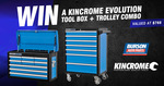 Win a Kincrome Evolution Tool Box & Trolley Combo Worth $768 from Burson Auto Parts