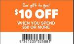 [VIC] $10 off $50 Minimum Spend @ Anaconda, Hawthorn East