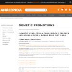 Bonus Anaconda $200 Gift Card on Purchase of Dometic CF40, CF50 & CF60 (Includes Cover) @ Anacond (Free Club Membership Req'd)