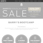 [NSW, VIC] 20% off Class Packs @ Barry's Bootcamp
