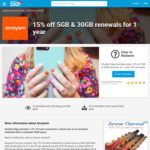 amaysim 15% off 5GB & 30GB Renewals for 1 Year via Student Edge ($25.50 for 40GB Per 28 Days or $17 for 8GB)