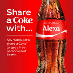 Free Personalised 'Share A Coke' Bottle Delivered (via Amazon Alexa) - Valued at $12 Shipped