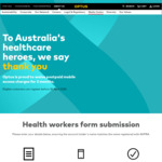 3 Months Postpaid Mobile Access Fees Waived for Health Workers @ Optus