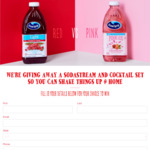 Win a Sodastream or Cocktail Set Prize Pack from Ocean Spray