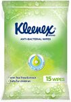 KLEENEX Facial out of Home on The Go Anti-Bacterial Wipes, Pack of 15 $1.99 + Delivery ($0 with Prime/ $39 Spend) @ Amazon AU