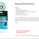 Belong $40 Starter Pack $20 @ Woolworths (6 Months 7GB or 3 months 82GB)