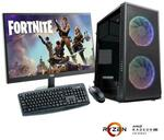 """Gaming PC Bundle: R3-3100 RX 570 + 22"""" 1080P Monitor: $699 + Delivery @ TechFast"""