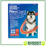[eBay Plus] Nexgard Spectra Chewables for Dogs Red 30.1-60kg 6 Pack $79 (Was $143.50) @ Budget Pet Products eBay
