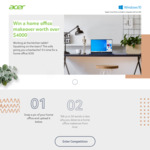 Win a Home Office Makeover Worth $4,498 or 1 of 5 $500 Harvey Norman Gift Cards from Acer