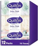Quilton 3 Ply Extra Thick Facial Tissues (110 Sheets Per Box, 12 Box) $17.37 + Delivery ($15.63 Delivered with S&S) @ Amazon