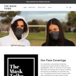 10% off Breathable Face Coverings ($20-$25) + Delivery @ Mask Tribe