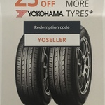 25% off Yokohama Tyres (2 or More Tyres) @ Tyresales