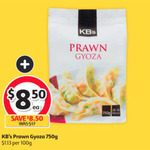 KB's Prawn Gyoza 750g $8.50 (Was $17) @ Coles