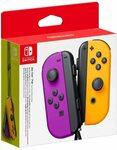 Nintendo Switch Joy Con Controller (Purple/Neon Orange) $98 @ Amazon AU/Harvey Norman