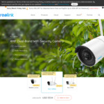 Reolink RLC-410W 4MP HD Wireless Dual Band WiFi 2.4/5Ghz Home Security Camera US$45.51(Was US$62.99) ~A$64.69 @Reolink