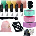 20% off Resistance Bands Set 11 Pcs Tube Bands + 3 Booty Bands $44 Free Shipping @ Blazan.store