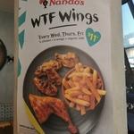 $11 WTF Deal – 1/4 Chicken, 4 Wings & Regular Side on Wed/Thu/Fri @ Nando's