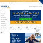 20% off Everything + Delivery ($0 with $50 Spend) @ Lifeline Online