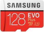 Samsung EVO Plus 128GB Micro SD Card $19 + Delivery ($0 with Prime/ $39 Spend) @ Amazon AU
