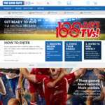 Win 1 of 100 Samsung/Sony/LG/Hisense/TCL TVs from The Good Guys