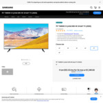 "Samsung 75"" TU8000 Crystal UHD 4K Smart TV $1349 (Free Delivery) @ Samsung"