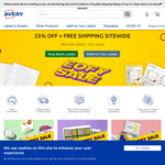 25% off Sitewide + Free Shipping @ Avery Products