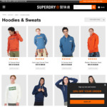 Up to 60% off: SUPERDRY Men's Fleece, Sweats and Hoodies from $49 + $7.95 Delivery ($0 with $50 Order) @ Superdry