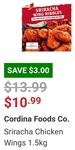 Sriracha Chicken Wings 1.5kg Hot $10.99 in-Store @ Costco (Membership Required)